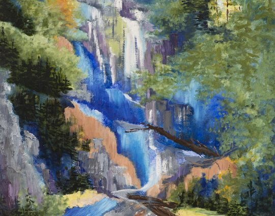 Anna Ruby Falls, Oil on Canvas