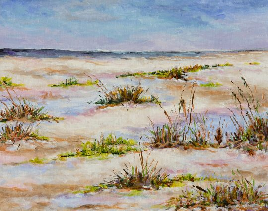 Sea Oats, Acrylic on Canvas