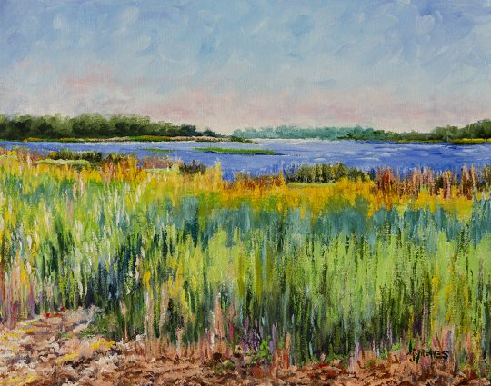 Birdwalk View, Myakka, Oil on Canvas