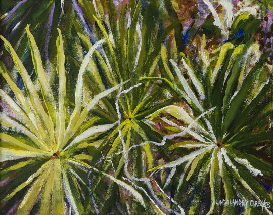Palm Fireworks, Oil on Canvas