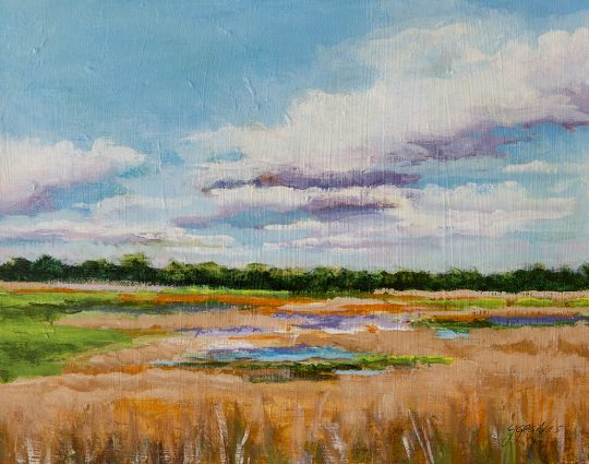 Birds View, Myakka, Acrylic on Panel